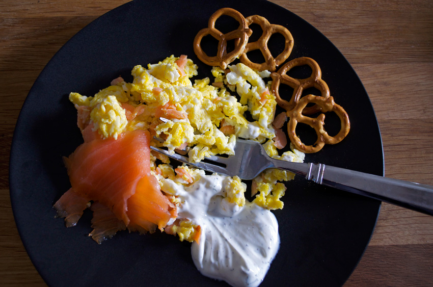 smoked salmon eggs