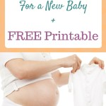 What You Really Need For a New Baby + Free Printable