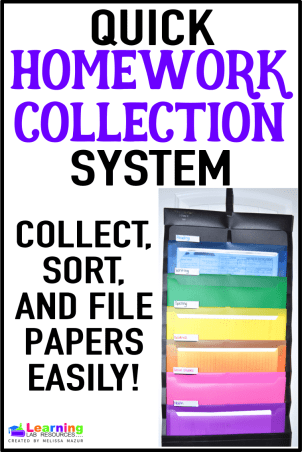 Keep papers your students turn in organized!  Use this file system to collect, sort, and file papers by subject!