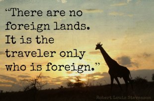 There are no foreign lands quote