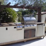 10' Outdoor Kitchen, Featuring a Trellis w/ Pizza Oven.