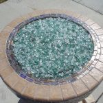 The fire pit featured green and clear Fire Crystals.com in it.
