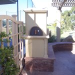 Side view of Pizza Oven door access.