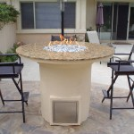 5' Bar height fire pit, w/ granite counter top.