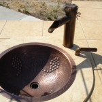 """The copper faucet was the first ever hand made by Leasure Concepts"""