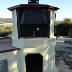 """LC Oven Designs Gazebos style pizza oven with a 36"""" x 24"""" Poeric Kit."""