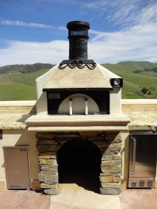 Custom Outdoor Pizza Oven with Earth Stone model 60 pizza oven kit.