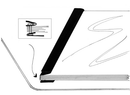 leather porfolio sandwich binding