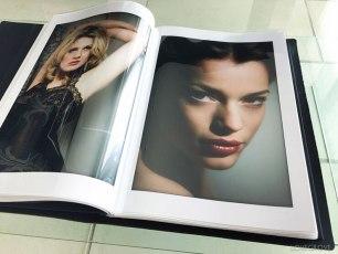 "Black 12x18"" portrait portfolio with sleeves."