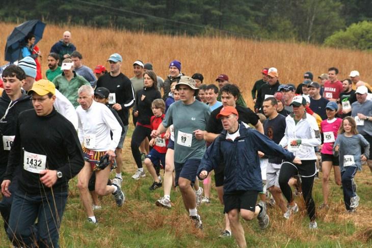 Meadow start of Leatherman's Loop 2010 (photo by Carol Gordon)
