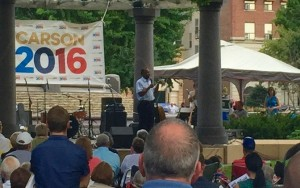 Dr. Ben Carson in Council Bluffs in August 2015.