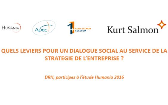 Etude Humania & Kurt Salmon : DRH, Directeur des Relations Sociales, donnez votre vision du Dialogue Social et de votre rôle dans l'entreprise !