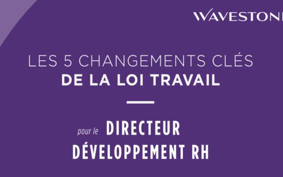Les 5 changements clés de la loi Travail pour chacune des fonctions RH (épisode 4/4 : le Directeur Développement RH)