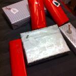 Quelques emballages cadeaux de Mini moi et de sa cousine