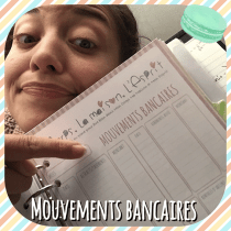 Pour mon Kakebo: tableau de mes mouvements bancaires