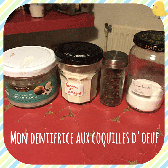 Mon Dentifrice Maison #2: Coquille d'oeuf