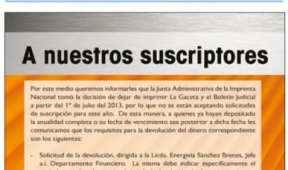 Annonce de la Gaceta pour sa version web