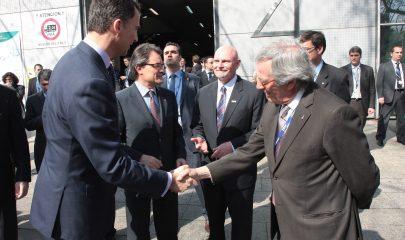 De gauche à droite, le prince Felipe de Borbon, Artur Mas, président de la Generalitat de Catalunya et Xavier Trias.