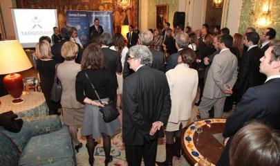 Présentation de Juan Perez, Consejo Delegado de Targo Bank, hier soir.