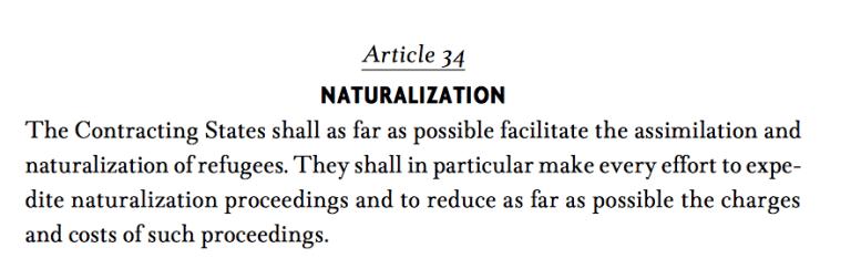 Skärmavbildning FN:s flyktingkonvention