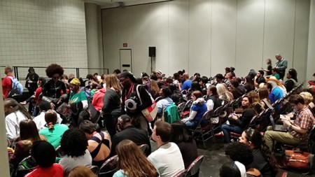 A packed audience for the Women of Color in Comics panel