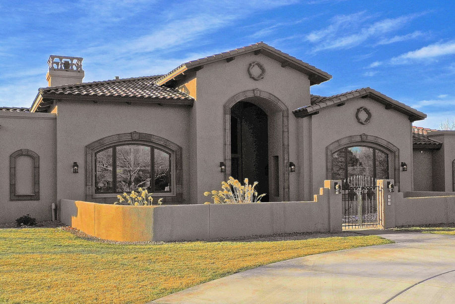 North valley tuscan design home albuquerque nm lee for Tuscan home builders