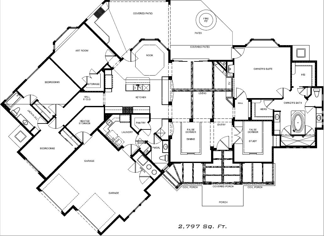 placitas custom home floorplan