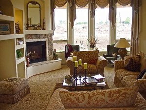 Lee Michael Homes Custom Living Room