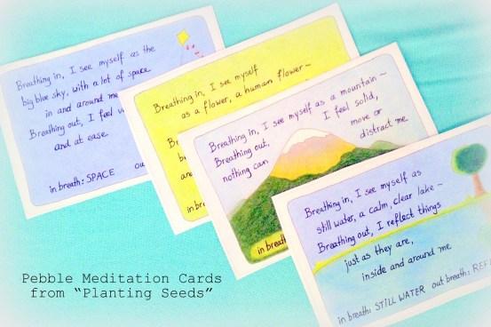pebble meditation cards