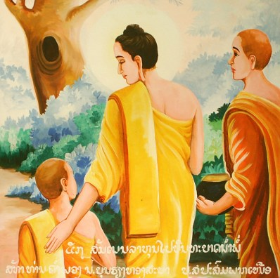 The Buddha and his son, Rahula (source: wikimedia commons)