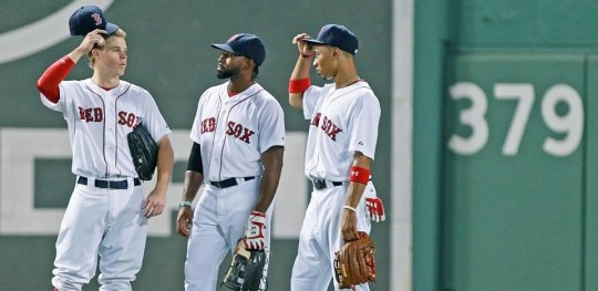 red sox outfielders