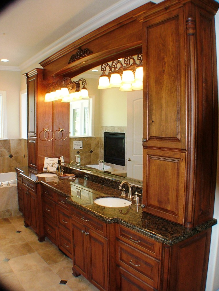 Custom bathroom cabinets legacy mill cabinet for Custom bathroom cabinets