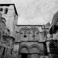 Church of the Holy Sepulchre south entrance, Jerusalem, Israel.