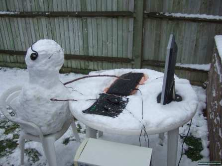 Pupazzo di neve nerd