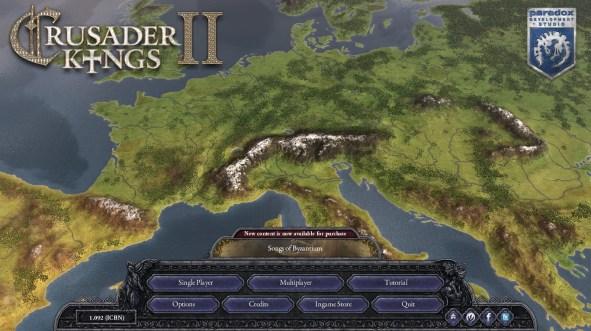 Crusaders Kings II Avvio
