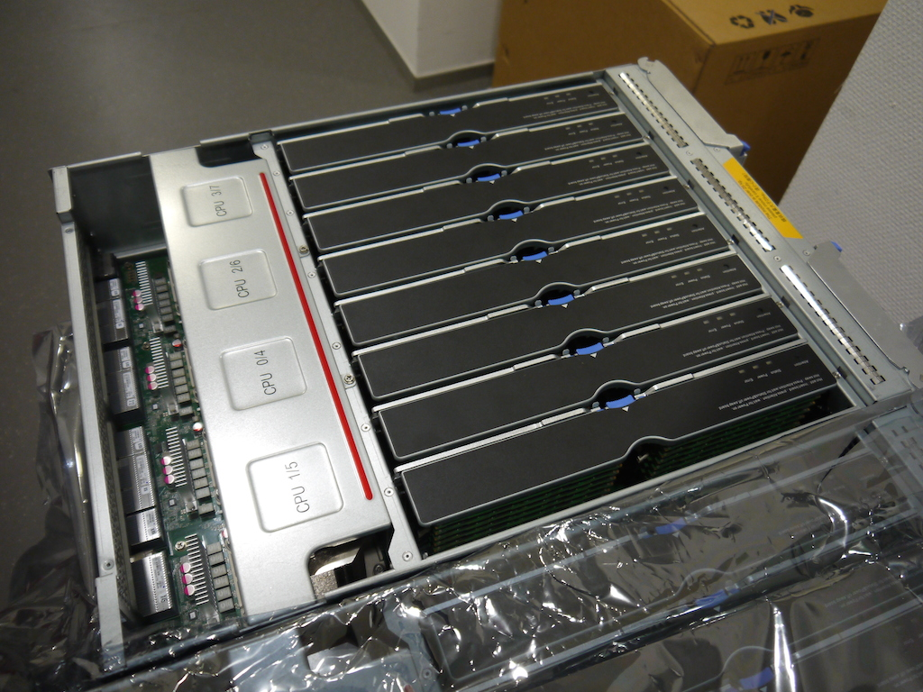 In each CPU chassis there are 4 Xeon processors with 15 cores making a total of 60 cores per chassis.