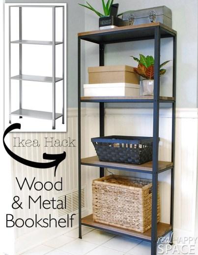 Ikea-Hack-Wood-and-Metal-Bookshelf-Real-Happy-Space