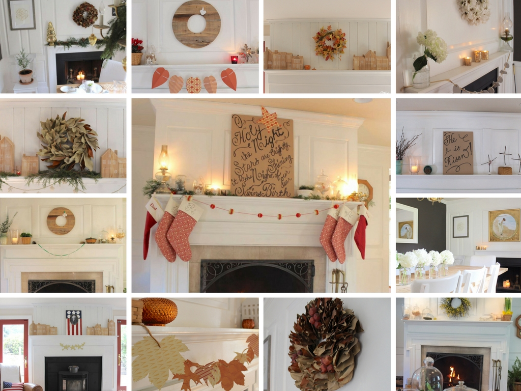 Fireplace Mantel Decorating Ideas for the Whole Year   Lehman Lane