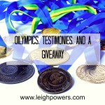 Olympics, Testimonies, and a Giveaway
