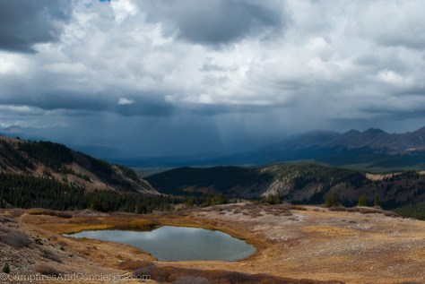 Cottonwood Pass - storms rolling in over Gunnison County