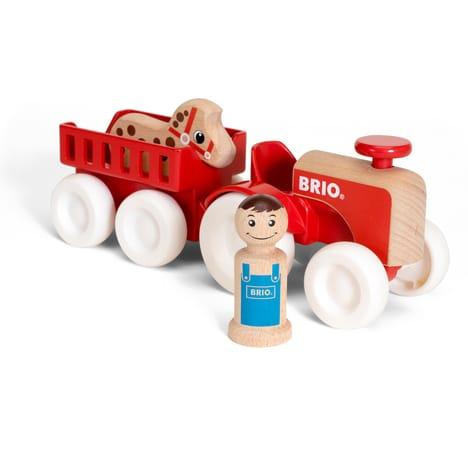 Tracteur et remorque BRIO - Prix : environ 26 €