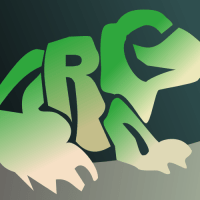 A frog made of text by John LeMasney via 365sketches.org #typography #design#inkscape #cc #animals