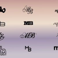 A monogram for Melissa Brisbin (mb) by John LeMasney via 365sketches.org #design #creativecommons #Inkscape