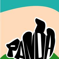 Panda made of text - lemasney.com