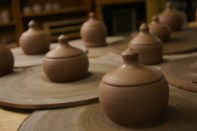 attempts for one-piece wheelthrown lidded forms