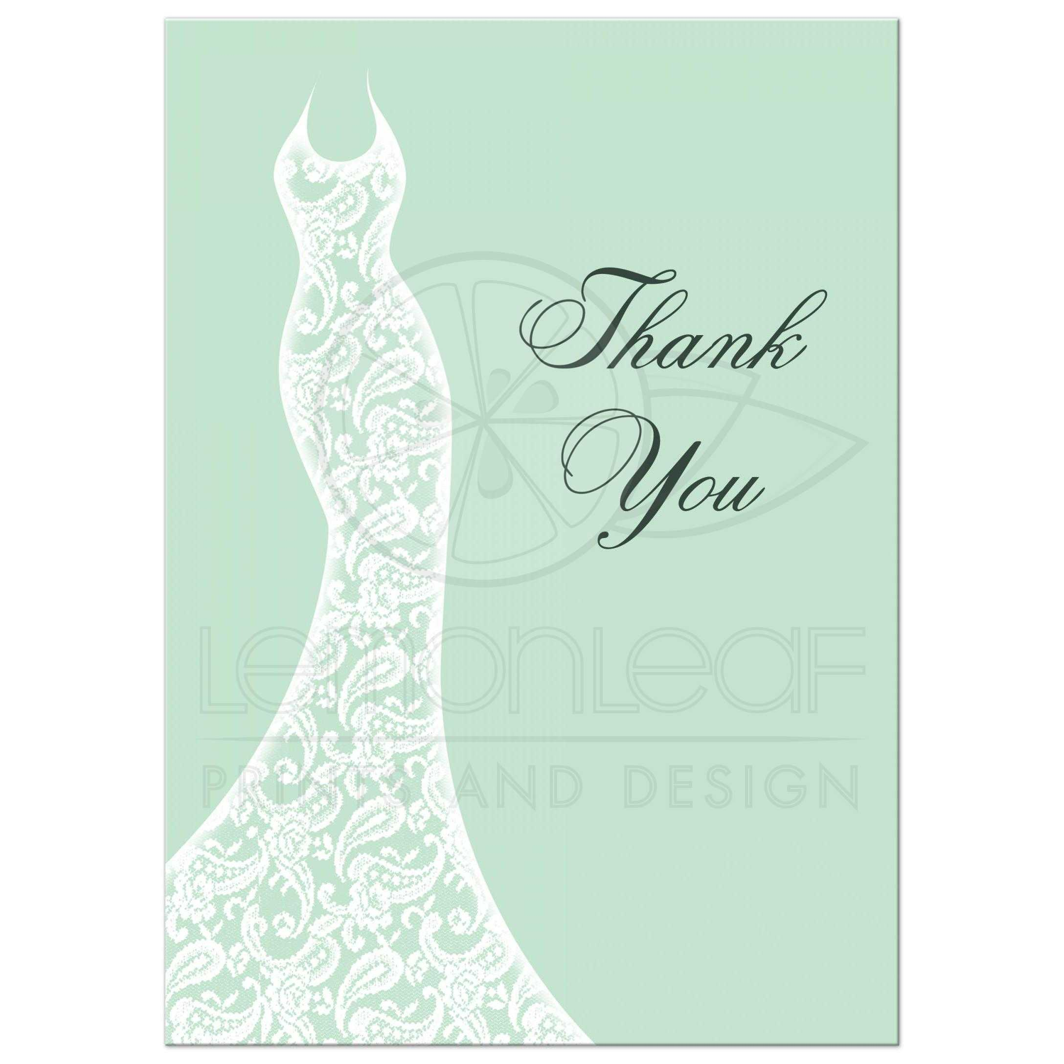 Thrifty Mint Bridal Shower Thank You Card Bridal Shower Thank You Card Mint Bridal Shower Thank You Cards Cheap Bridal Shower Thank You Cards Sayings bridal shower Bridal Shower Thank You Cards