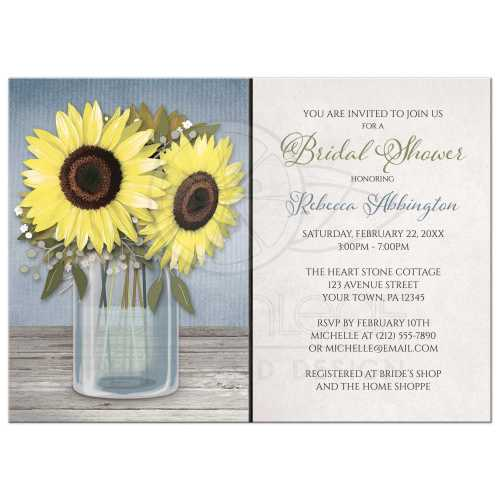 Medium Of Rustic Bridal Shower Invitations