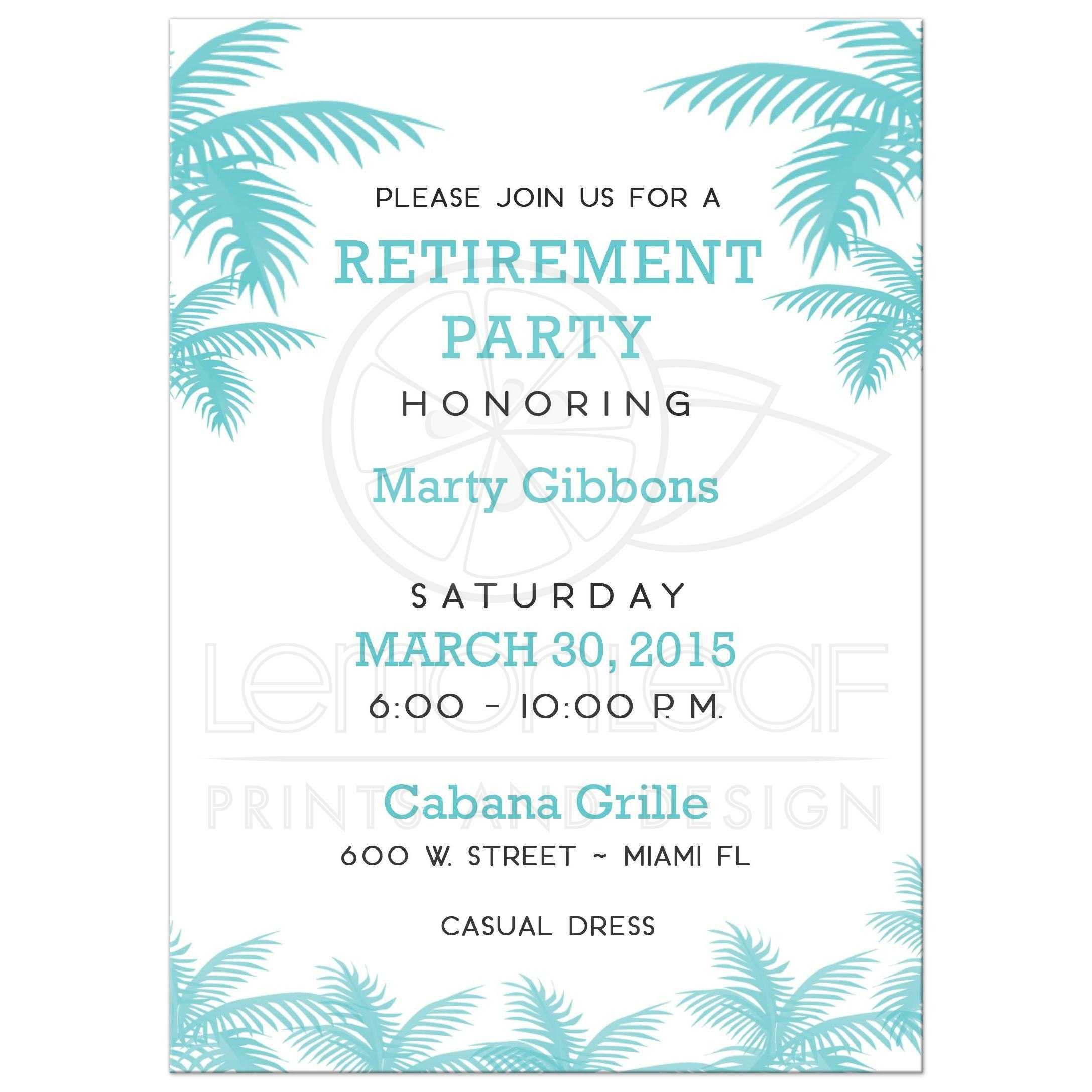 Fullsize Of Retirement Party Invitations