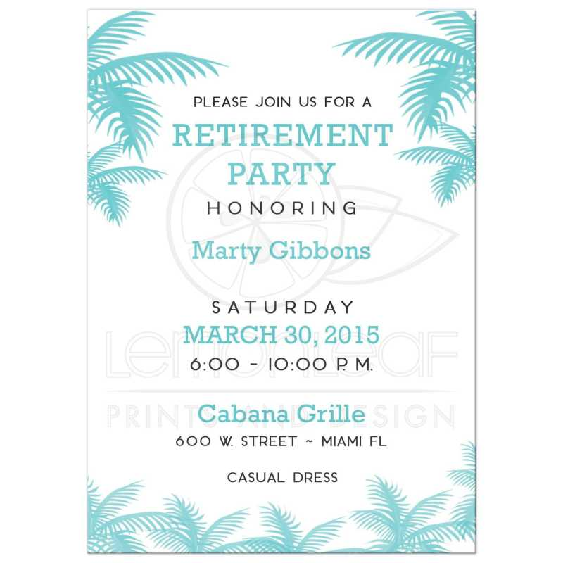 Large Of Retirement Party Invitations