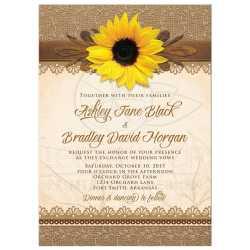 Enchanting Wood Sunflower Wedding Invitation Front Photo Wedding Invitations Templates Photo Wedding Invitations Costco 29233 Rectangle Rustic Burlap Lace wedding Photo Wedding Invitations